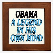 Obama. A legend... Framed Tile