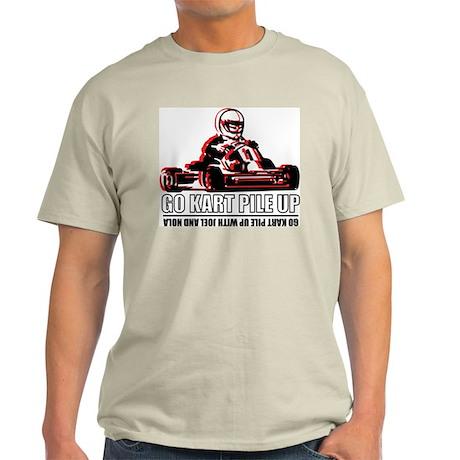 Go Kart Pile Up Ash Grey T-Shirt