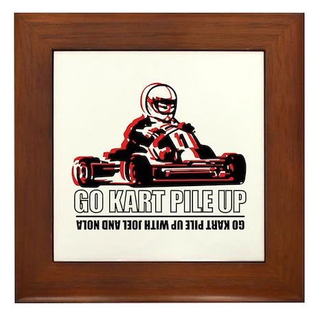 Go Kart Pile Up Framed Tile