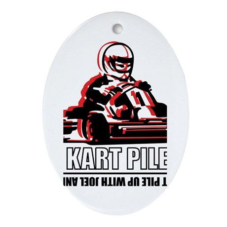 Go Kart Pile Up Oval Ornament