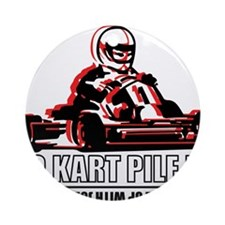 Go Kart Pile Up Ornament (Round)