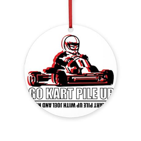 Go Kart Pile Up Ornament (Round)