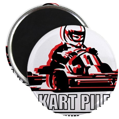 "Go Kart Pile Up 2.25"" Magnet (100 pack)"