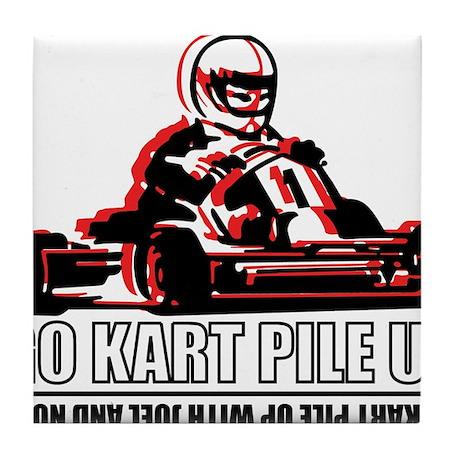 Go Kart Pile Up Tile Coaster