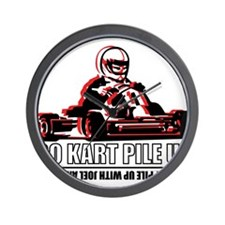 Go Kart Pile Up Wall Clock