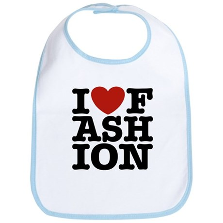 I Love Fashion Bib