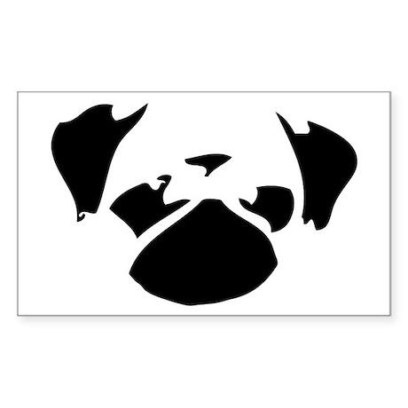 Cutie Pug Sticker (Rectangle)
