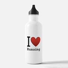 I Love Running Sports Water Bottle
