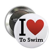 """I Love to Swim 2.25"""" Button"""