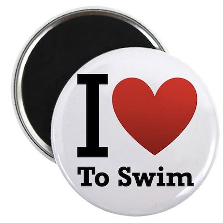 I Love to Swim Magnet