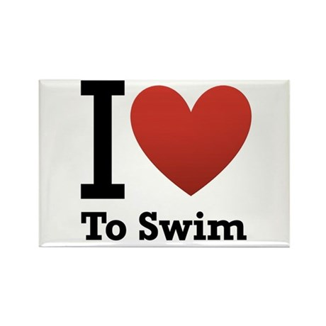 I Love to Swim Rectangle Magnet (100 pack)