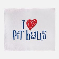 I Love Pit Bulls Throw Blanket