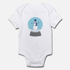 Snow Globe Snowman Infant Bodysuit