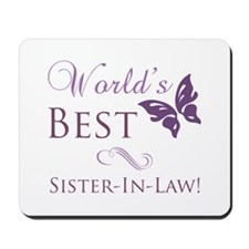 World's Best Sister-In-Law Mousepad