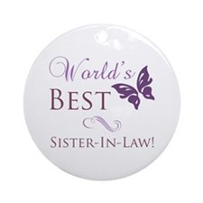 World's Best Sister-In-Law Ornament (Round)