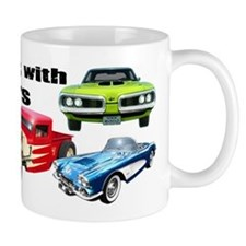 Still Plays With Cars Small Mugs