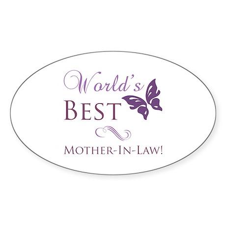 World's Best Mother-In-Law Sticker (Oval)
