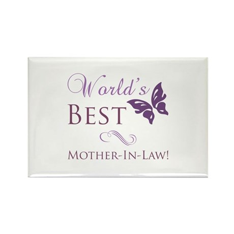 World's Best Mother-In-Law Rectangle Magnet