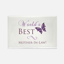 World's Best Mother-In-Law Rectangle Magnet (10 pa