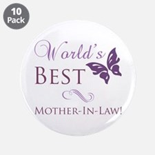 """World's Best Mother-In-Law 3.5"""" Button (10 pack)"""