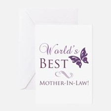 World's Best Mother-In-Law Greeting Card