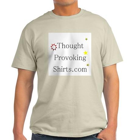Thought Provoking Shirts logo on Light T-Shirt