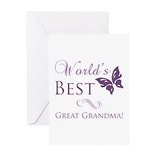 World's Best Great Grandma Greeting Card