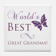 World's Best Great Grandma Tile Coaster