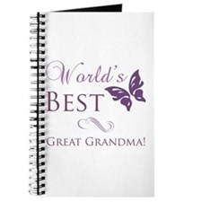 World's Best Great Grandma Journal