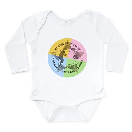 My Best Friend (Color) Long Sleeve Infant Bodysuit