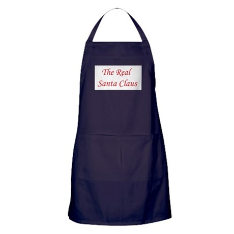 The Real Santa Claus Apron (dark)