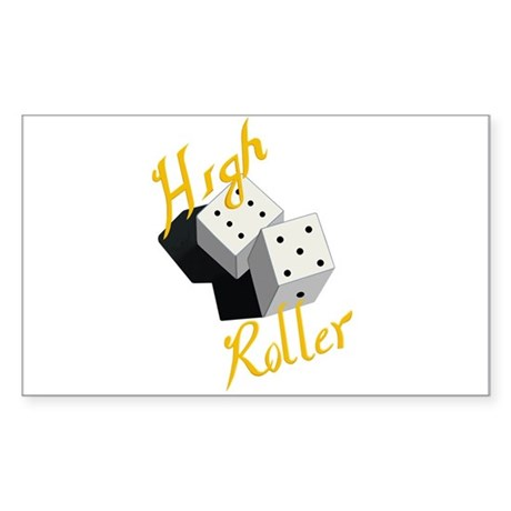 High Roller Sticker (Rectangle 10 pk)