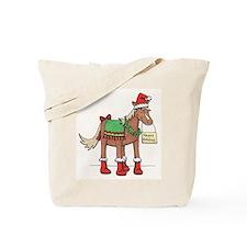 Cute Christmas horses Tote Bag