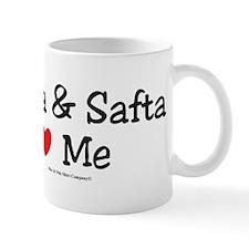 "Saba & Safta ""Heart"" Me Mug"