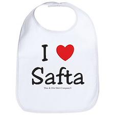 I heart Safta Bib