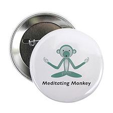 Meditating Monkey Button