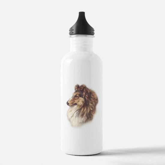 Vintage Sable Collie Water Bottle