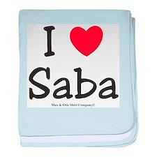I heart Saba baby blanket