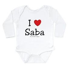 I heart Saba Long Sleeve Infant Bodysuit