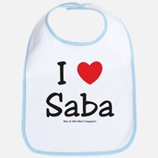 I heart Saba Bib