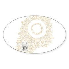 Believe in Crop Circles Sticker (Oval)