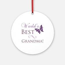 World's Best Grandma Ornament (Round)
