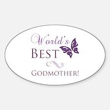 World's Best Godmother Sticker (Oval)