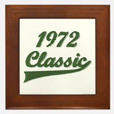 Unique 1972 birthday. Framed Tile