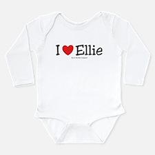 I Love Ellie - custom I Heart Long Sleeve Infant B