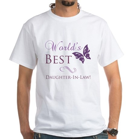 World's Best Daughter-In-Law White T-Shirt