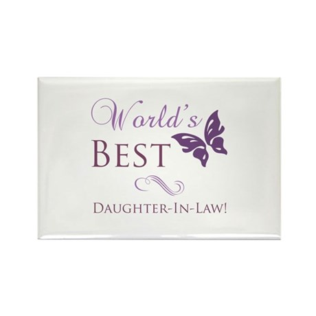 World's Best Daughter-In-Law Rectangle Magnet (100