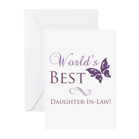 World's Best Daughter-In-Law Greeting Cards (Pk of