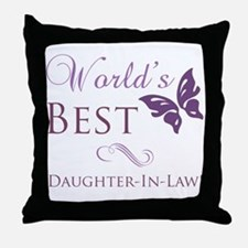 World's Best Daughter-In-Law Throw Pillow