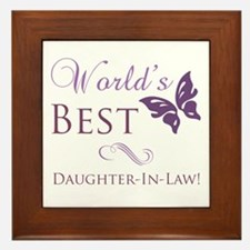 World's Best Daughter-In-Law Framed Tile